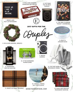 Christmas Gifts - The Everygirl's 2017 Budget-Friendly Holiday Gift Guide - Pinme Craft Gifts, Diy Gifts, Unique Gifts, Best Gifts, Christmas Gifts For Couples, Christmas Couple, Christmas Stuff, Holiday Gift Guide, Holiday Gifts