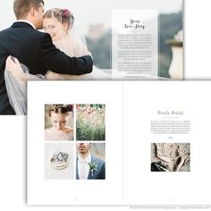 "Introducing ""Bliss"", our gorgeous new wedding photographer marketing brochure / welcome guide with a decidedly high-end look, designed to attract your"
