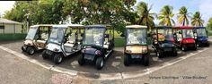 une Voiture électrique homologuée route à disposition de la villa de luxe en Guadeloupe à Saint François