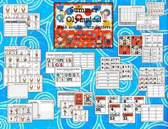 Kerri here. I LOVE the Summer Olympics! I love the theme song, I love the opening ce. Olympic Idea, Olympic Games, Math Literacy, Literacy Centers, Numeracy, Vbs Themes, Classroom Themes, Summer School, School Fun