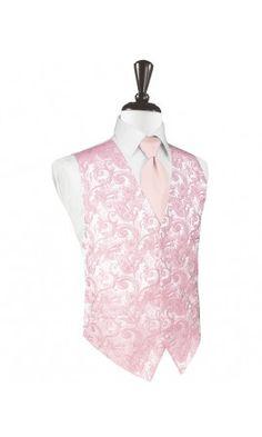 Pink Tapestry Tuxedo Vest
