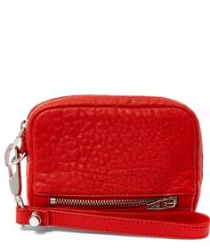 Alexander Wang Large Red Fumo Pebbled Leather Wallet | Accessories | Liberty.co.uk
