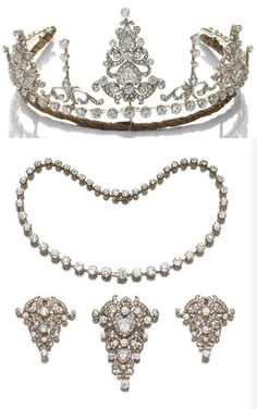 Diadem in diamonds, convertible into necklaces and brooches, 1890 ca.