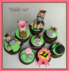 Giddy Up - Horse themed cupcakes