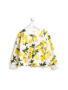 lemon print sweatshirt