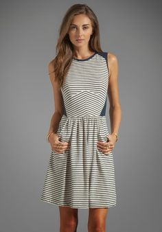 Cute dress. I used to be afraid of stripes, but they seem to work well of dresses & skirts for me.