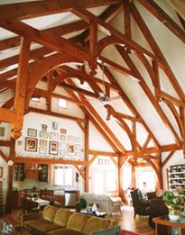 Post and beam home--great room