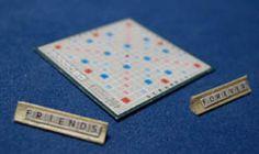 Scrabble Board with 2 racks
