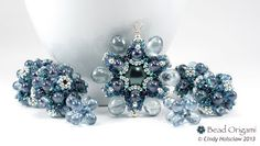 Icy Blue Raindrop Flower Set - Cindy Holsclaw - Bead Origami