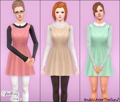 Falling Star ~ Peter pan collared dress for teen to adult