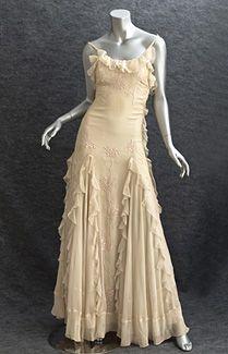 1930s evening dress would make a stunning wedding gown
