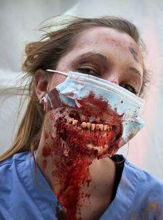 maquillaje para halloween de zombie paso a paso - Buscar con Google