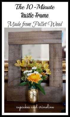 The 10-minute Diy Pallet Frame {fall Home Decor Tour