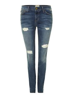 CURRENT ELLIOTT The Ankle Skinny Jeans In Borough Destroy http://ow.ly/pf4yc