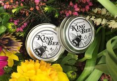 This limited edition duo is the bees-knees. King Bee Beard Balm and Moustache Wax are made with the beeswax from our sponsored hives with ABC Bees. It is fragranced with Honey, Juniper, Oak Moss and Lavender. King Bee, Beard Balm, Bees Knees, Moustache, The Balm, Wax, Lavender, Fragrance, Honey
