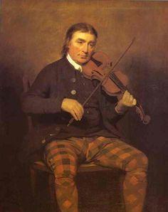 Henry Raeburn (British: 1756 – 1823) - Portrait of Niel Gow (1793)