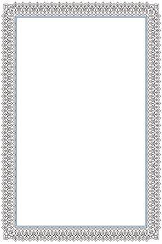Border 2 Frame Border Design, Page Borders Design, Calligraphy Borders, Islamic Calligraphy, Borders For Paper, Borders And Frames, Certificate Border, Scrapbook Frames, Baroque Pattern