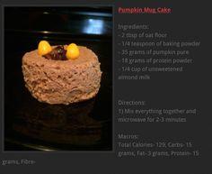 Pumpkin Mug Cake {129 calories}