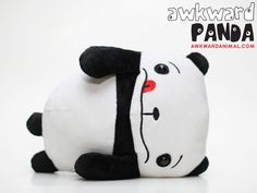 Awkward panda from Wong Fu Productions Panda Stuffed Animal, Stuffed Animals, Stuffed Toys, Wong Fu Productions, Awkward Animals, Latest Cartoons, Thing 1, Floral Pillows, Softies