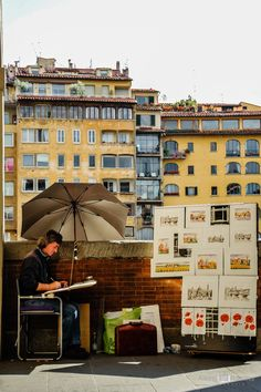 Il pittore di Firenze by Alexis Ramirez Flores on Florence, Street View, Travel, Viajes, Trips, Tourism, Traveling