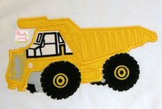 Dump Truck - Beau Mitchell Boutique 4x4, 5X7, 6X10 and 9x9 hoop