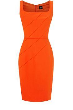 Oasis All Dresses | Mid Orange Rose Petal Shift Dress | Womens Fashion Clothing | Oasis Stores UK #orange #dress #fashion