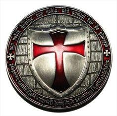 Geocoin Templario.