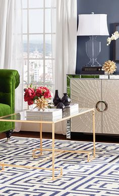 A contemporary addition to your living room or den, this straight-lined coffee table showcases an openwork frame and a gold finish. Get inspired at jossandmain.com