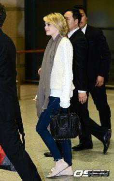 Incheon Airport, South Korea: Lanvin Grosgrain Lace Oxford & ALEXANDER WANG COCO DUFFEL BAG