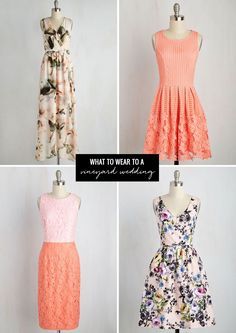 what to wear to a vineyard wedding