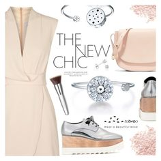 """""""The New Chic"""" by totwoo ❤ liked on Polyvore featuring Finders Keepers, STELLA McCARTNEY, Bare Escentuals, Mansur Gavriel, Amanda Rose Collection, Trish McEvoy, WearableTech, totwoo and smartjewelry"""