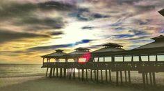 """Sunset View"" in Panama City Beach, Florida, Pineapple Willy's Restaurant."