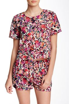 Collective Concepts   Printed Woven Tee   Nordstrom Rack