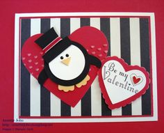 Posh Penguin Valentine : Paper is My Art