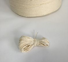 Vintage twine - Wabasso Cotton - Vintage cotton twine - white twine - bakery twine - craft twine - cotton twine - baker's twine by AboveParrCrafts on Etsy Twine Crafts, Bakers Twine, Vintage Cotton, Junk Journal, Tassel Necklace, Bakery, How To Make, Etsy, Jewelry