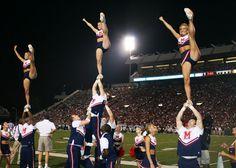Ole Miss cheerleading, #cheer, college, collegiate, #hottytoddy, sports, game, stunt, cheerleaders, heel stretch, extension level