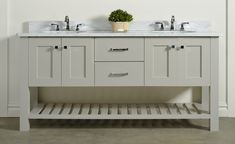 This February announced their Bathroom vanity line! FINISH: Each Vanity i . This February announced their Bathroom vanity line! FINISH: Each Vanity is available in 14 different paints an. Bathroom Cabinetry, Low Shelves, Bath Vanities, Decor Crafts, Vanity, February, Kitchens, Vanity Area, Bath Accessories