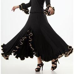 Women's Lady Tango Waltz Salsa Modern Dance Skirts Quicksetp Dancewear Ballroom…