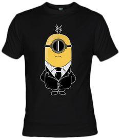 Camiseta Minions in black by Cris-anime - Fanisetas.com