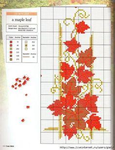 87 Fantastiche Immagini Su Cross Stitch Leaves