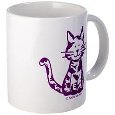 Another Purple Cat mug will soon be making someone smile! =^..^= #PurpleCat #mug #CafePress