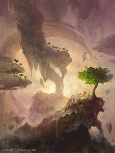 Ethereal Cliffs by EternaLegend on DeviantArt