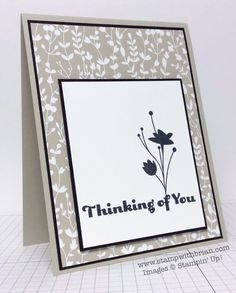 Four You, A Happy Hooray, Something Borrowed Designer Series Paper, Stampin' Up!, Brian King, thinking of your card