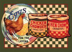 Love chicken decorations
