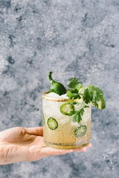 Cilantro-Infused Spicy Jalapeño Margaritas