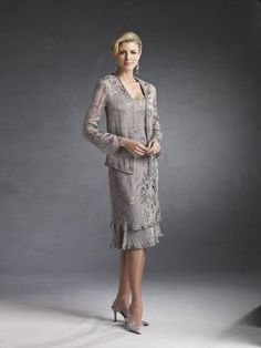 Mon Cheri Mother of the Bride dresses offers the collection of Capri.  These dresses are of a more modest and for the mature woman.  #designer #dresses #formal #fashion