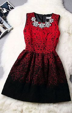 Retro round neck sleeveless vest dress