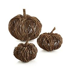 Crafted out of dried vines and twigs, our rustic pumpkin adds artisanal charm to fall décor and holiday gatherings. Because it's made from natural materials, each pumpkin will have its unique shape.