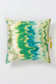 Watercolor Ikat Square Pillow #anthropologie....painting inspiration?? This could not be more perfect