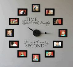 DIY WALL CLOCK WITH FAMILY ALBUM
